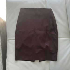 Express brown faux leather skirt size 2